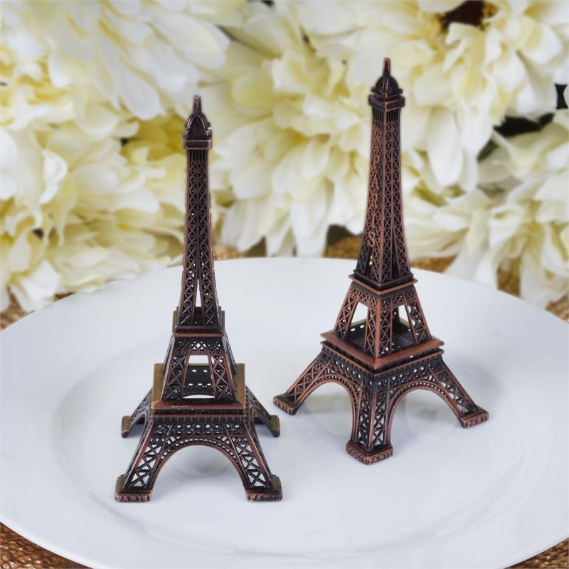 BalsaCircle 6 inch Eiffel Tower Centerpiece - Party Wedding Home Dinner Table Kids Room Decorations