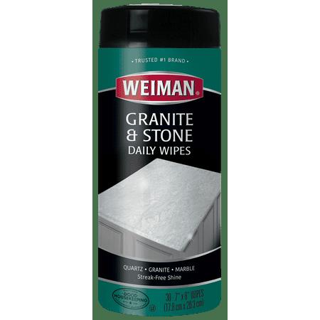 Weiman Granite Wipes 30 Count Walmart Com