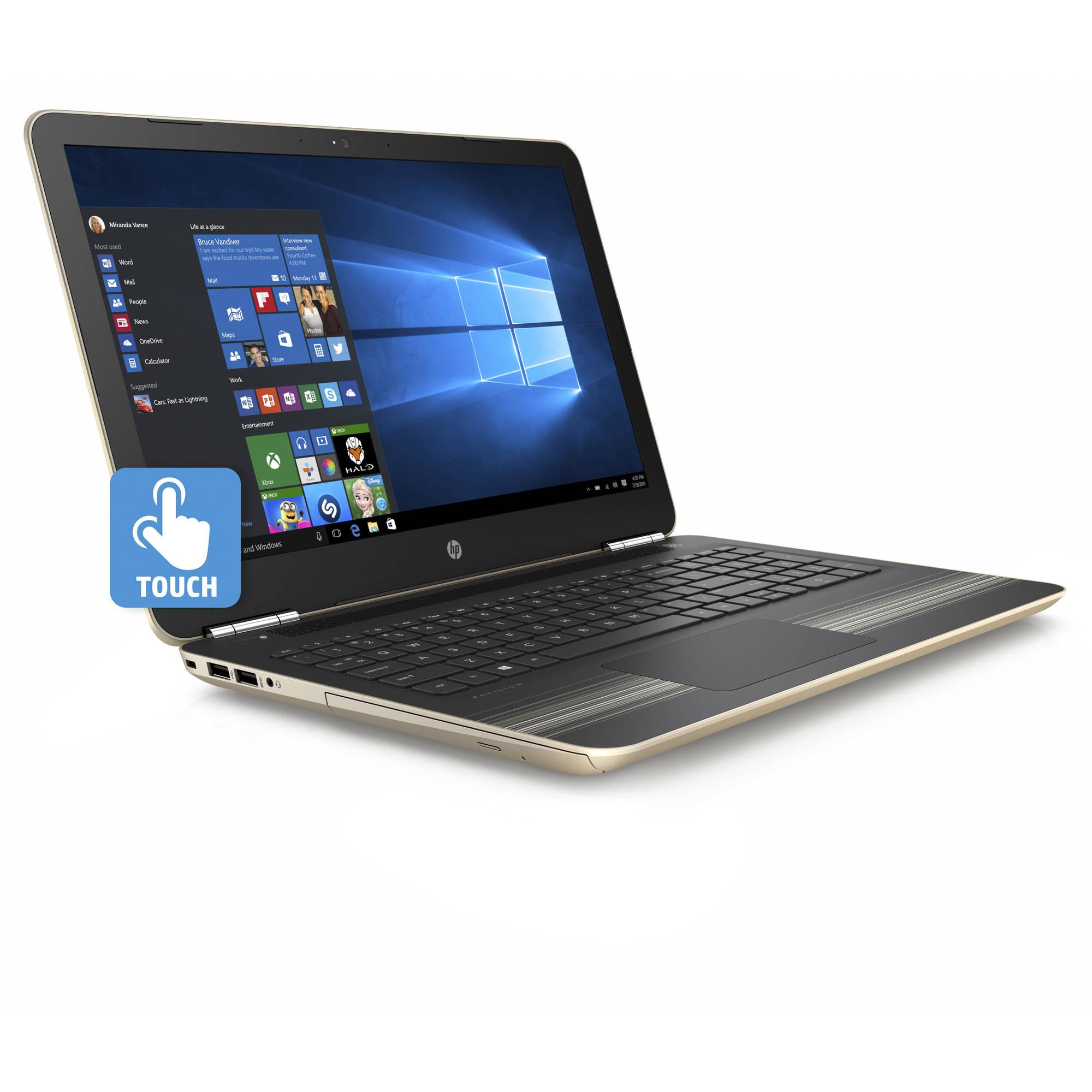 Hp pavilion 15 au030wm 15 6 manhattan gold laptop touch screen windows 10 intel core i5 6200u processor 8gb memory 1tb hard drive walmart com