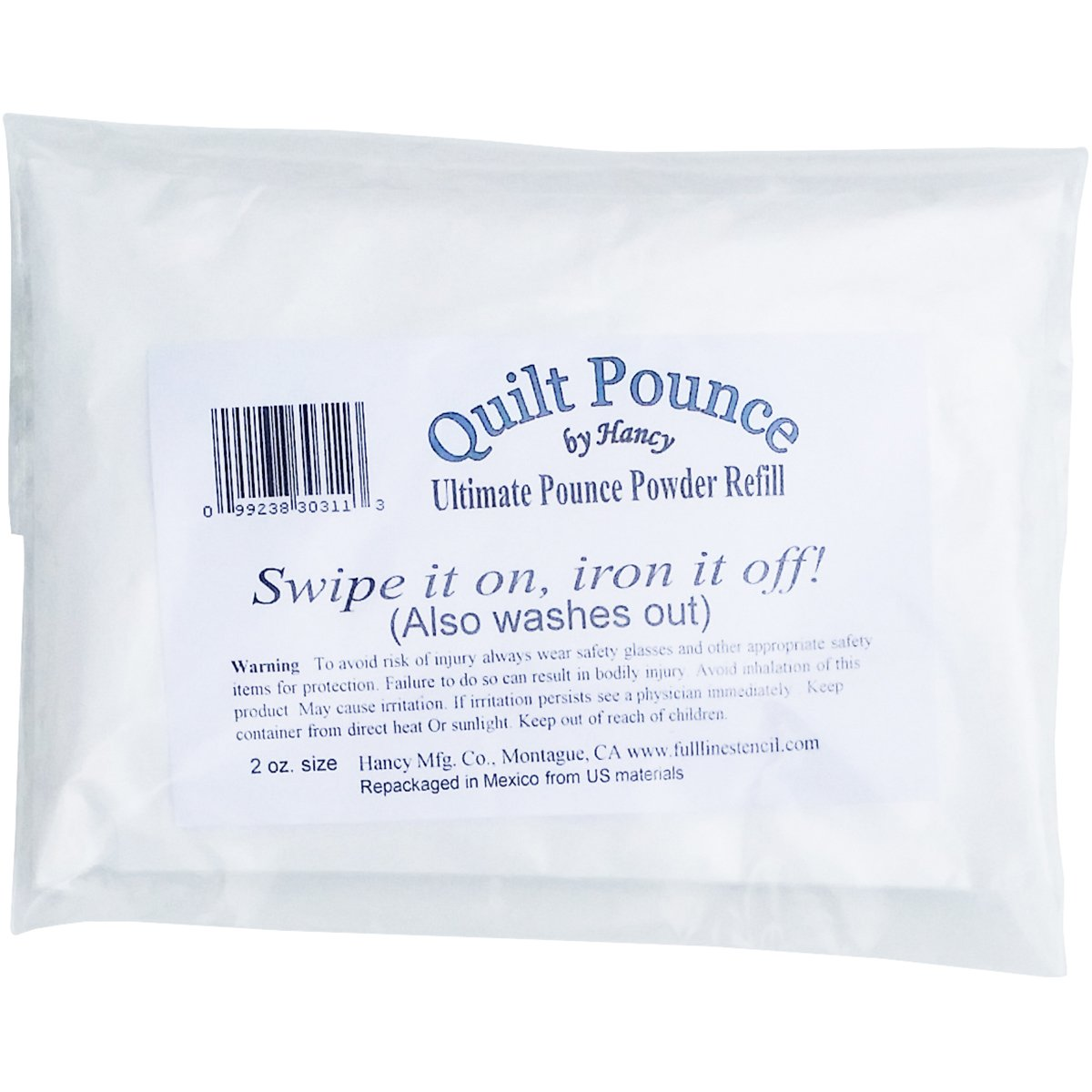 Brand New Ultimate Quilt Pounce Chalk Refill -2oz White Brand New by Hancy MFG.