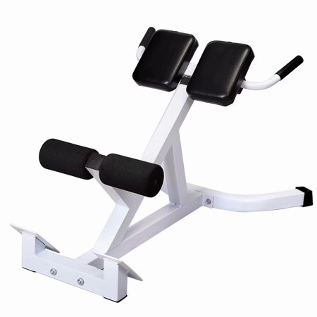 N-027 Back Hyperextension Bench Roman Chair White &