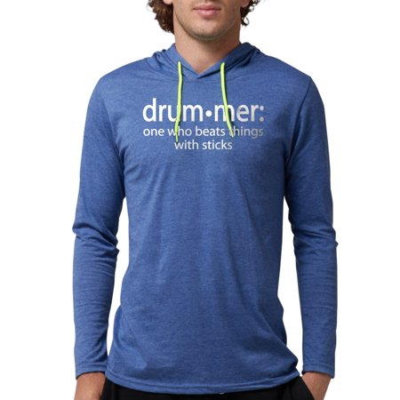 3a4373d0dd5 CafePress - Funny Drummer Definition Long Sleeve T Shirt - Mens Hooded Shirt
