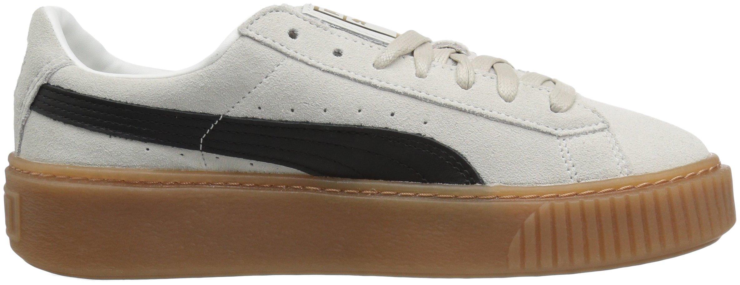 55f05290a450 PUMA - Puma Women s Suede Platform Core Whisper White   Black Ankle-High  Fashion Sneaker - 9M - Walmart.com
