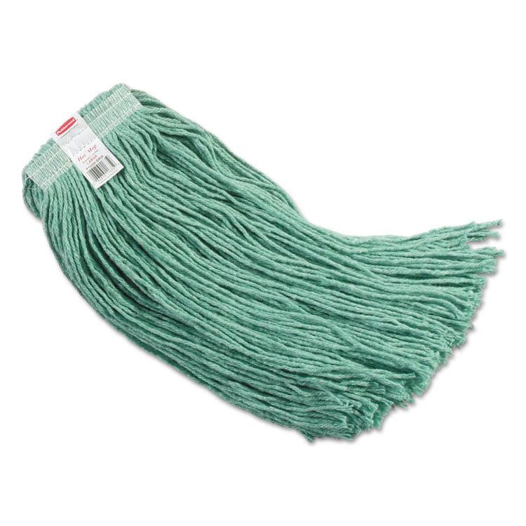 "Synthetic Blend Mop Head, 24 Oz, 1"" Headband, Lime Green, 6/carton"