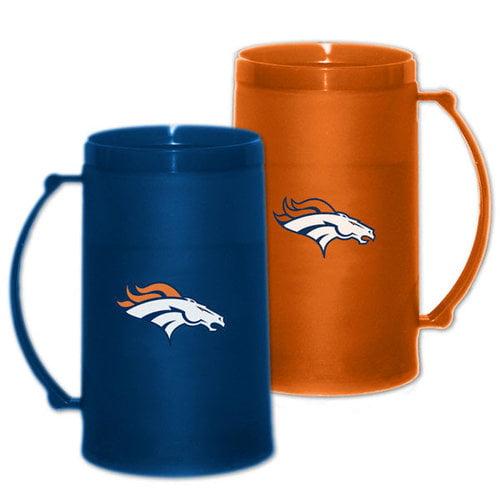 NFL - Denver Broncos 15 oz Freezer Mug 2 Pack: Home & Away H20 Mug Set
