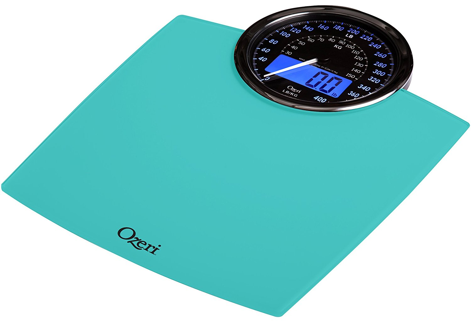 Ozeri Rev Digital Bathroom Scale with Electro-Mechanical Weight Dial ...