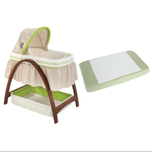 Summer Infant Bentwood Bassinet with Motion with Waterproof Pad