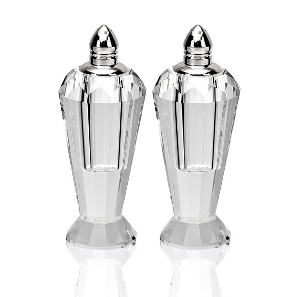 Preston Platinum Handmade Lead Free Crystal Pair Of Salt Pepper Shakers H4 Walmart Com Walmart Com