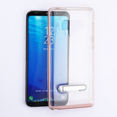 online store 11acd 7a781 Samsung Galaxy Note 9 Phone Case Shockproof Hybrid Bumper Rubber Silicone  Cover Transparent Clear Magnetic Metal Kick Stand Rose Gold Case for  Samsung ...