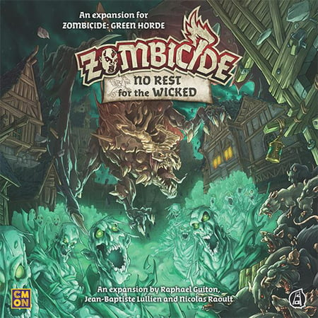 Zombicide: GH: No Rest for the Wicked CMON Zombicide Green Horde: Wicked, Game Board Game - The Dark Games