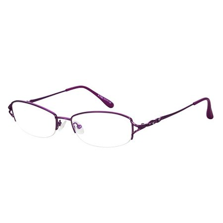 0897ffa46e Ebe Women Violet Shield Half Rim Regular Hinge Eyewear Reading Glasses  yt762 - Walmart.com