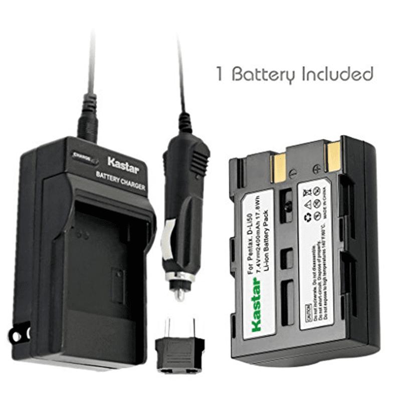 Kastar Battery (1X) and Charger for Pentax D-Li50 Konica Minolta NP-400 and Pentax K10 K10D K20 K20D Minolta A-5 A-7 Dimage A1 A2 Dynax 5D 7D Maxxum 5D 7D Samsung SLB-1647 GX-10/20 Sigma BP-21 SD1