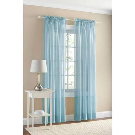 Mainstays Marjorie Sheer Voile Curtain Panel Walmart Com