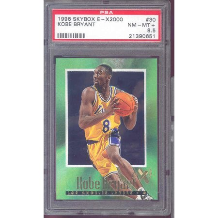 1996 97 Skybox E X2000 30 Kobe Bryant Los Angeles Lakers Rookie Card Psa 85