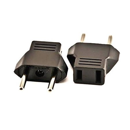 VCT VP-4 Plug Adapter Converts USA Plug to Europe, Germany, France, Russia, Poland, Spain and More Adapter Plug