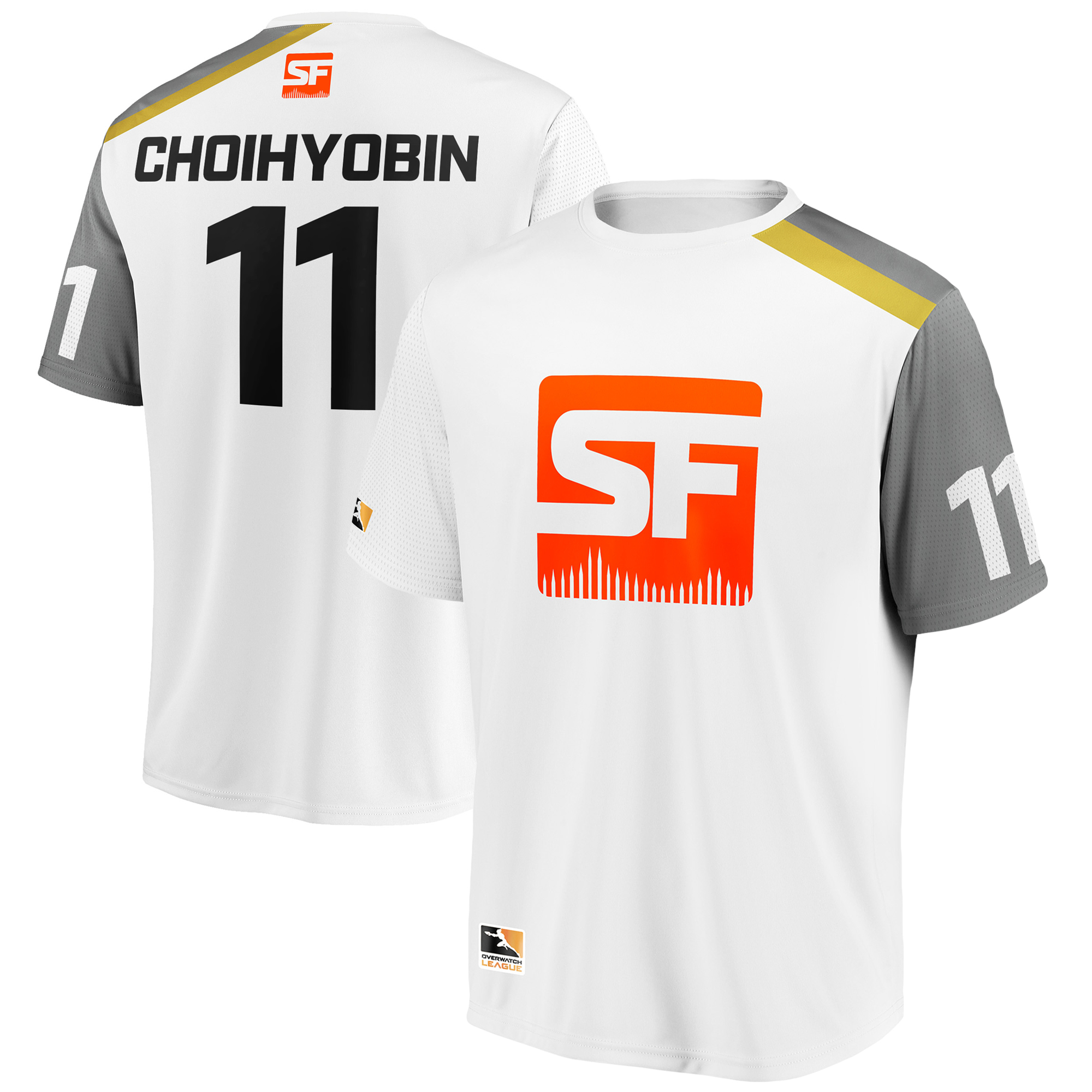 Choihyobin San Francisco Shock Overwatch League Replica Away Jersey - White