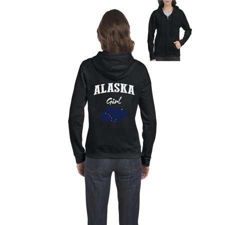 Alaska Girl Women Full-Zip Hooded Sweatshirt thumbnail
