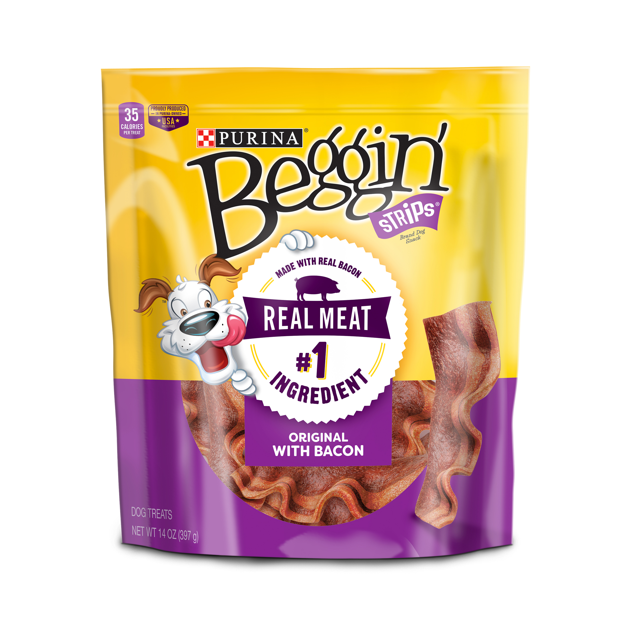 Purina Beggin' Strips Bacon Flavor Dog Treats - 14 oz. Pouch