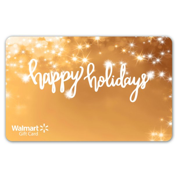 Gold Lights Holiday Walmart Gift Card