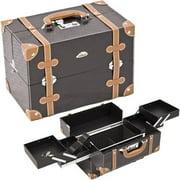 Sunrise C3019PVBK Black Pro Makeup Case