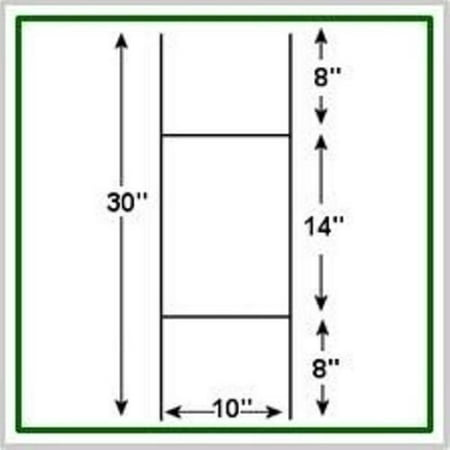 5 PACK Corrugated H-Frames Wire Stakes- Signs NOT Included