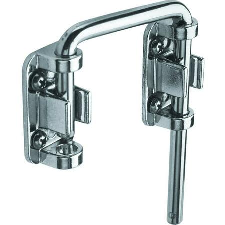 """Defender Security S 4379 Chrome Plated Steel Sliding Door Loop Lock, 2-1/8"""""""