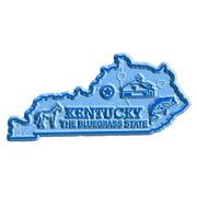 Kentucky The Bluegrass State Map Fridge Magnet