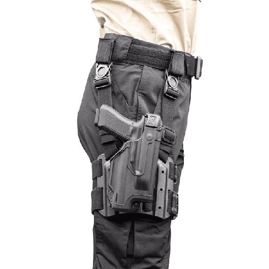 Image of BlackHawk 44E613BK-R Epoch L3 Molded Light Bearing Tact Holster RH for Glock 20