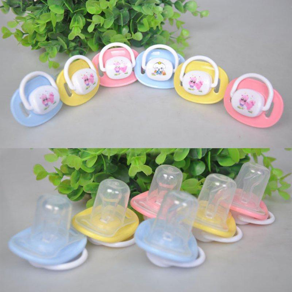 Girl12Queen Cute Unisex Kids Baby Soother Nipples Translucent Silicone Baby Dummy Pacifier