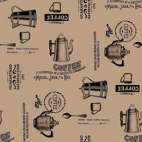 "Springs Creative Burlap Prints Rustic Coffee, Black, 47/48"" Wide, Fabric By the Yard"