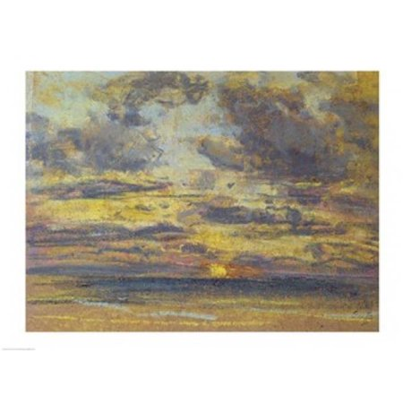 Posterazzi BALXIR221373 Study of The Sky with Setting Sun C.1862-70 Poster Print by Eugene Louis Boudin - 24 x 18 in. - image 1 of 1