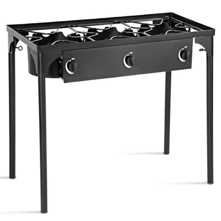 Portable Propane 225,000-BTU 3 Burner Gas Cooker Outdoor Camp Stove BBQ - image 10 of 10