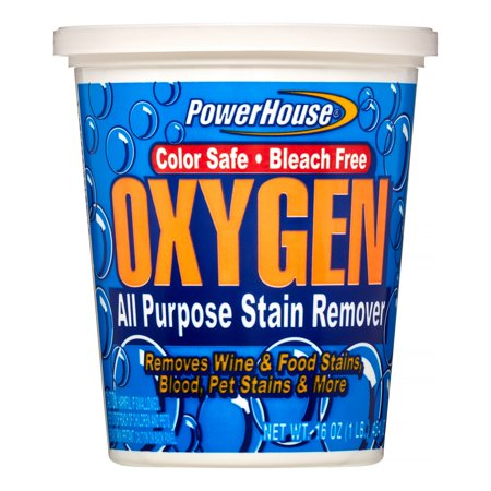 Oxygen Activated Stain Remover (Power House Oxygen All Purpose Stain Remover, 16 Oz)