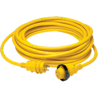 Marinco #199119 Shore Power Cord Set, 30A, 50', Yellow, LED