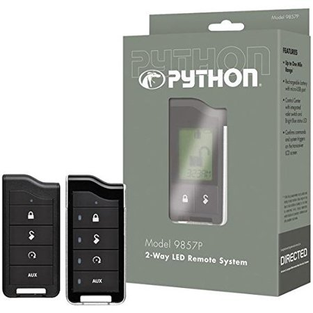 Python Car Security 9857P Python[r] Smartstart 9857p 2-way Led Rf Kit With 1-mile Range