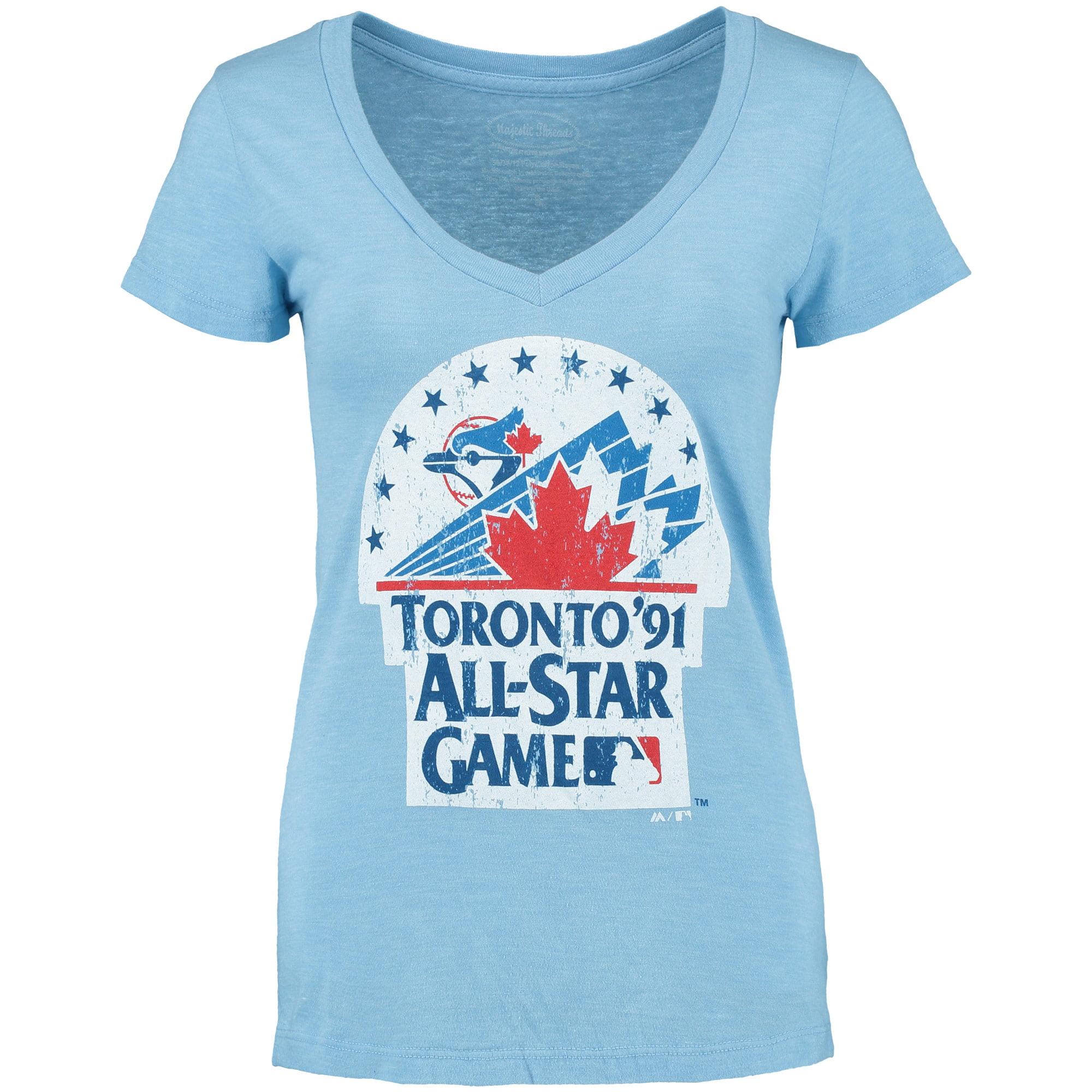 Toronto Blue Jays Women's Coop All-Star Tri-Blend T-Shirt - Light Blue
