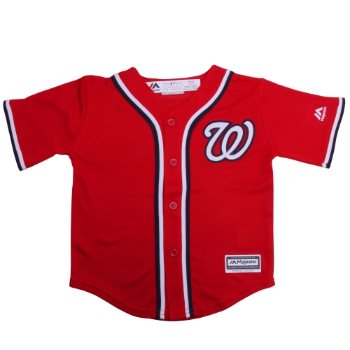 Washington Nationals Majestic Toddler Official Cool Base Jersey - Red