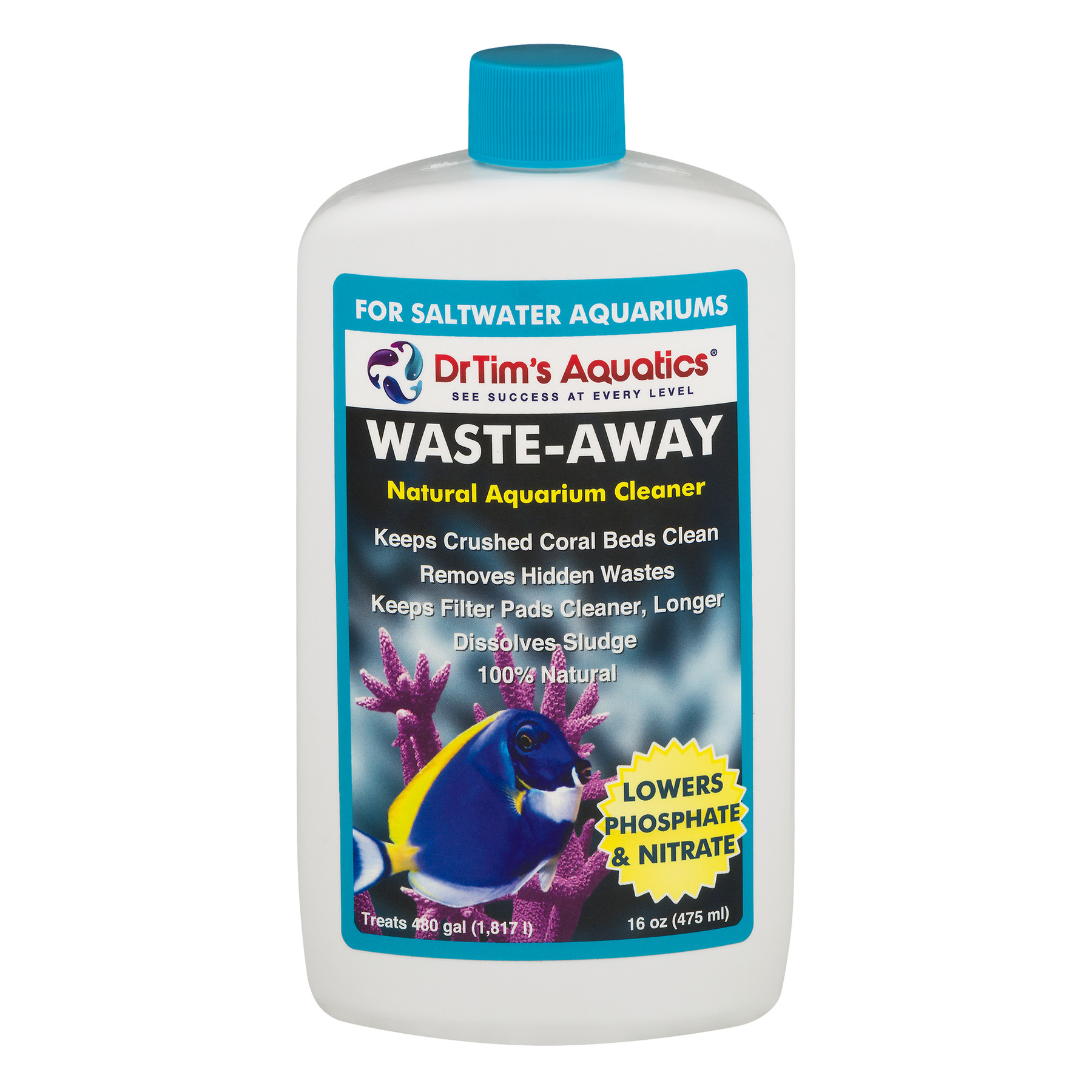 Dr. Tims Saltwater Waste-Away Nitrate and Phosphate Remover 16 oz. (for up to 480 gal)