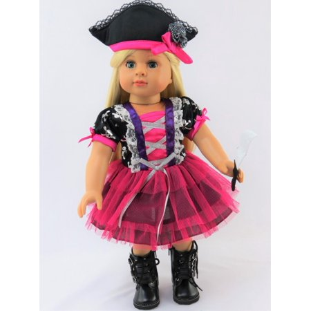 Pink Tutu Pirate Halloween Costume  18 Inch American Girl Doll Clothes for $<!---->