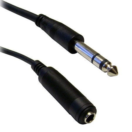 1/4 inch Stereo Extension Cable, TRS, Balanced, 1/4 inch Male to 1/4 inch Female, 50 foot