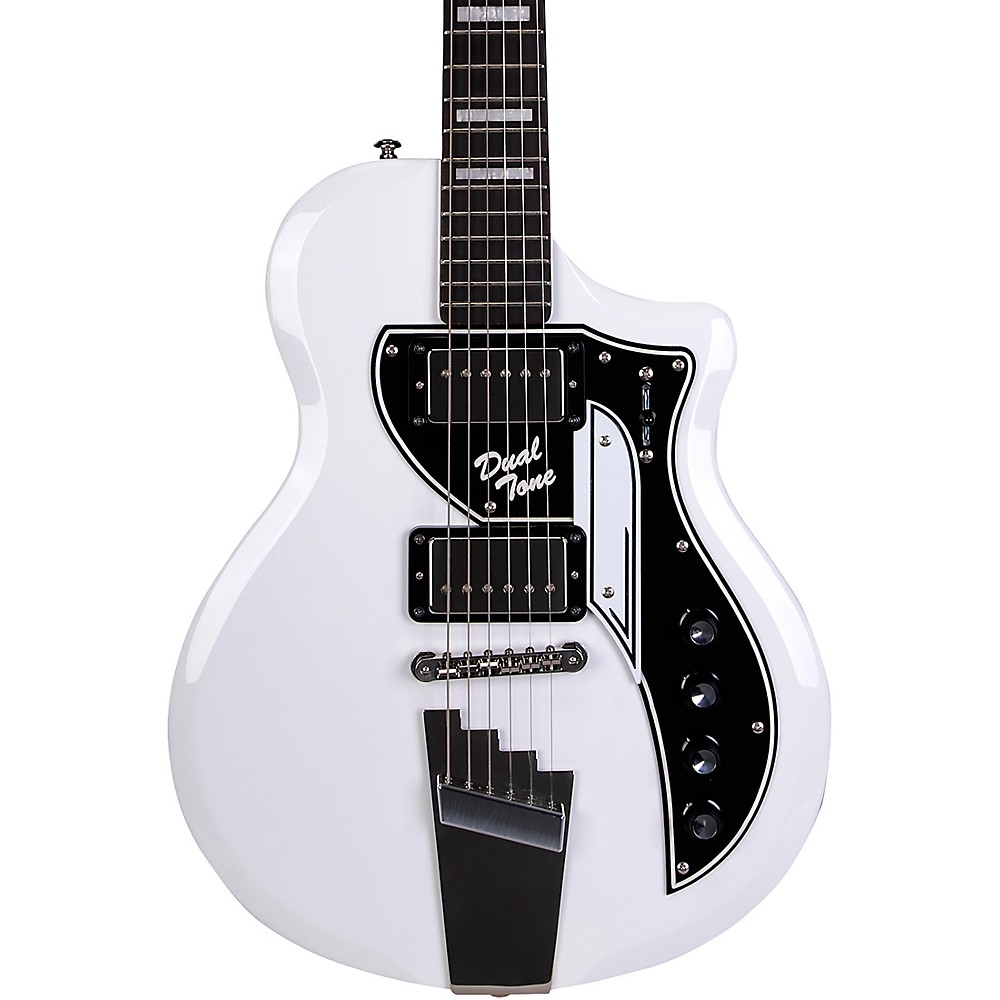Supro David Bowie 1961 Dual Tone Electric Guitar Arctic White