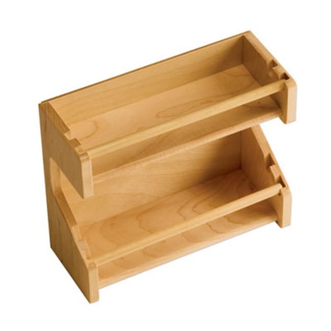 Omega  Nps9400Mnl2 8-.75In.L Adjustable Spice Rack - Maple
