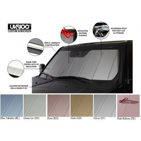 Uvs100 Heat Shield - Covercraft UVS100 - Series Heat Shield Custom Fit Windshield Sunshade for Select