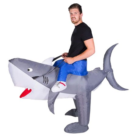Inflatable Shark Fancy Dress Adule size O/S Animal Costume Bodysocks