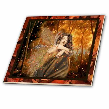 Faith Tile (3dRose Forest Fairy - Ceramic Tile, 12-inch)