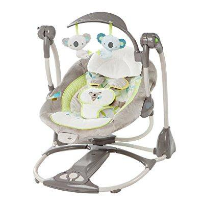 Ingenuity Convertme Swing 2 Seat Portable Infant Baby Swing Koala