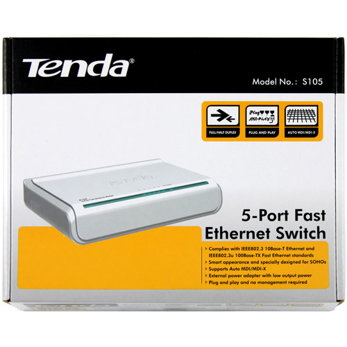 Tenda Unmanaged 5-Port 10/100Mbps Fast Ethernet Switch