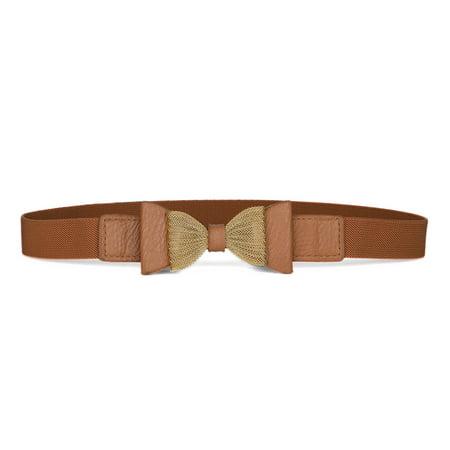 Women's Interlocking Buckle Stretchy Cinch Band Waist Belt
