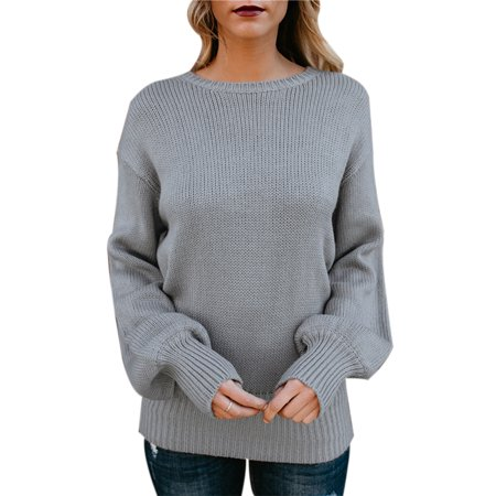 ac7ef8d9edec8a Sexy Dance - Ladies Oversized Pullover Jumpers Women Sexy Backless Cable  Knitted Baggy Knitwear Sweater Tops - Walmart.com