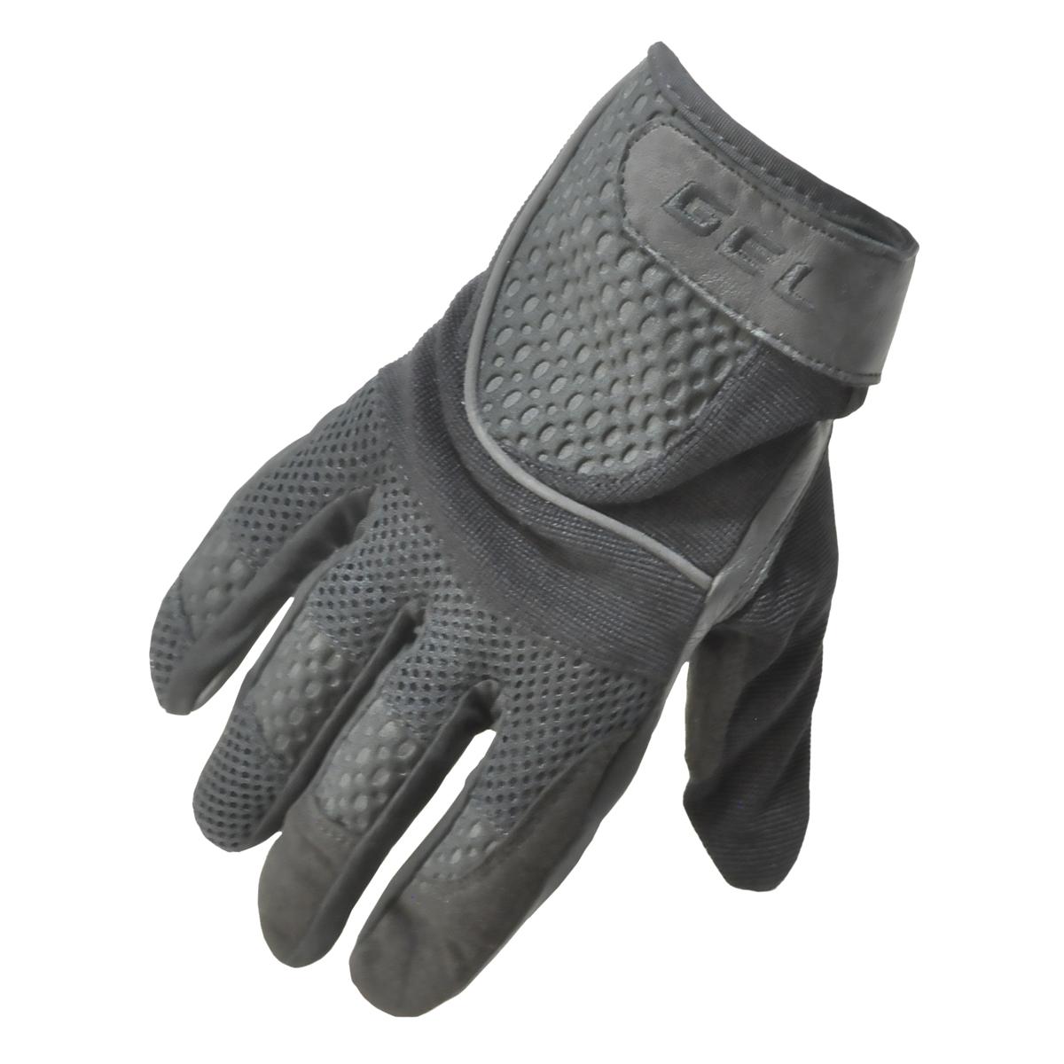 Men's Fulmer G9 Gel Gloves Motorcycle Riding Gloves Black Large with Gel Palm